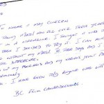 Letter from Matol customer suffering from skin condition