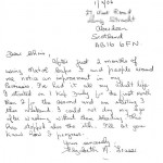 Letter from Elizabeth Fraser, a Matol customer suffering from Psoriasis