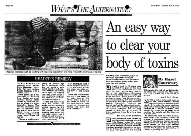 Matol, Daily Mail 4th July 1995